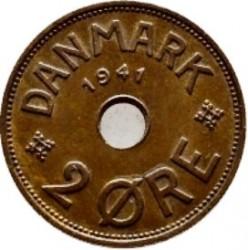 Pièce > 2ore, 1941 - Îles Faroe  - reverse