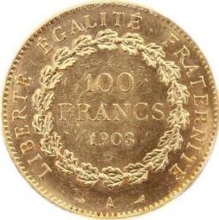 Pièce > 100francs, 1878-1906 - France  - reverse