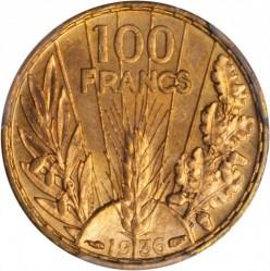 Monedă > 100franci, 1935-1936 - Franța  - reverse