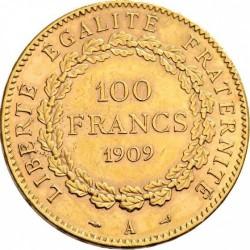 מטבע > 100פרנק, 1907-1914 - צרפת  - reverse