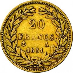 العملة > 20فرنك, 1830-1831 - فرنسا  - reverse