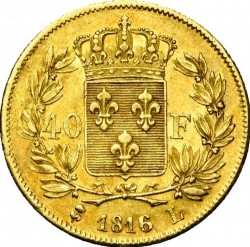 Moneta > 40franków, 1816-1824 - Francja  - reverse