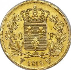 العملة > 40فرنك, 1816-1824 - فرنسا  - reverse