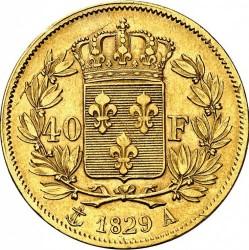 العملة > 40فرنك, 1824-1830 - فرنسا  - reverse