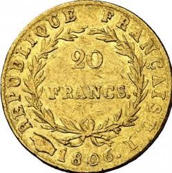 Mynt > 20francs, 1806 - Frankrike  - reverse