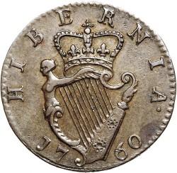 Moneta > 1fartingas, 1760 - Airija  - reverse