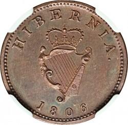 Pièce > 1farthing, 1806 - Irlande  - reverse