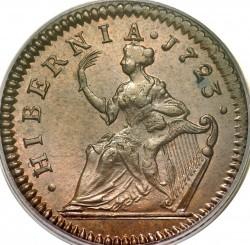 Кованица > ½пенија, 1722-1724 - Ирска  - reverse