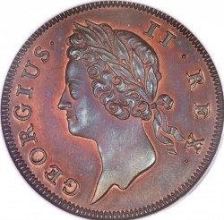 سکه > ½پنی, 1736-1738 - ایرلند  - obverse
