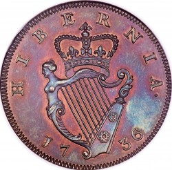 سکه > ½پنی, 1736-1738 - ایرلند  - reverse