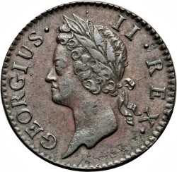 Mynt > ½penny, 1741-1753 - Irland  - obverse