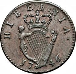 Mynt > ½penny, 1741-1753 - Irland  - reverse