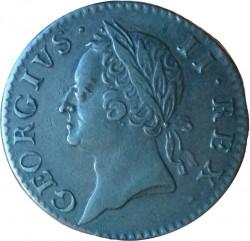 Monedă > ½penny, 1760 - Irlanda  - obverse