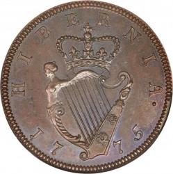 Monedă > ½penny, 1775-1782 - Irlanda  - reverse