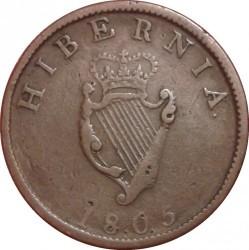 Moneta > ½penso, 1805 - Airija  - reverse