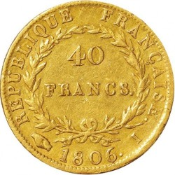 Minca > 40francs, 1806 - Francúzsko  - reverse