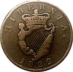 Mynt > ½penny, 1822-1823 - Irland  - reverse