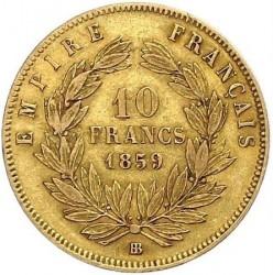 Moneta > 10franków, 1855-1860 - Francja  (Diameter 19mm) - reverse