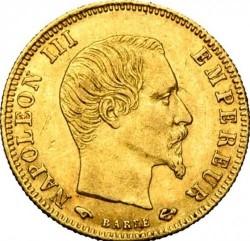 Moneta > 5franchi, 1856-1860 - Francia  - obverse