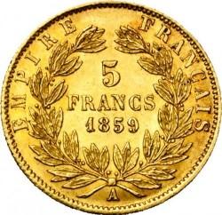 Moneta > 5franchi, 1856-1860 - Francia  - reverse