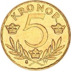 Munt > 5kronor, 1920 - Zweden  - reverse
