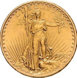 20 Dollar 1907 1908 Double Eagle Usa Münzen Wert Ucoinnet
