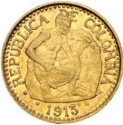 Moneda > 5pesos, 1913-1918 - Colòmbia  - obverse