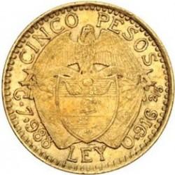 Moneda > 5pesos, 1913-1918 - Colòmbia  - reverse