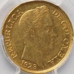 Moneda > 5pesos, 1919-1924 - Colòmbia  - obverse