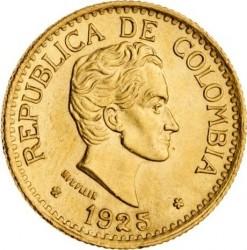 Moneta > 5pesos, 1924-1930 - Colombia  - obverse