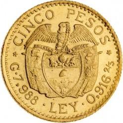 Moneta > 5pesos, 1924-1930 - Colombia  - reverse