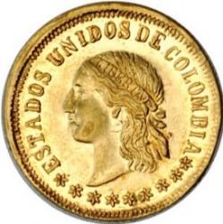 Monēta > 2peso, 1863 - Kolumbija  - obverse