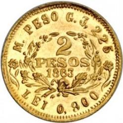Monēta > 2peso, 1863 - Kolumbija  - reverse