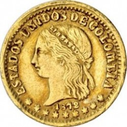 Moneda > 2pesos, 1871-1876 - Colòmbia  - obverse