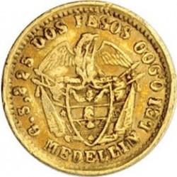 Moneda > 2pesos, 1871-1876 - Colòmbia  - reverse