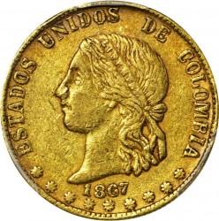 Monēta > 10peso, 1862-1876 - Kolumbija  - obverse