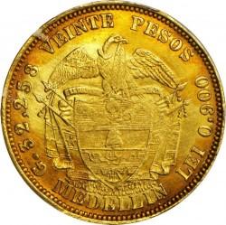Monēta > 20peso, 1862-1878 - Kolumbija  - reverse