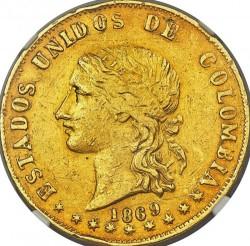 Monēta > 20peso, 1862-1878 - Kolumbija  - obverse