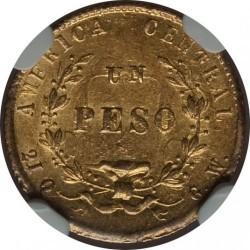 Moeda > 1peso, 1864-1868 - Costa Rica  - reverse
