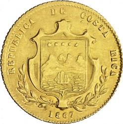 Moeda > 5pesos, 1867-1870 - Costa Rica  - obverse