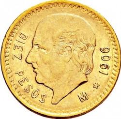 Mynt > 10pesos, 1905-1959 - Mexiko  - reverse