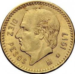 Moneda > 10pesos, 1905-1959 - México  - reverse
