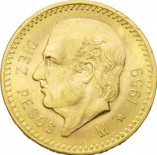 10 Pesos 1905 1959 Mexico Coin Value