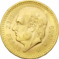 Moneta > 10pesos, 1905-1959 - Meksyk  - reverse
