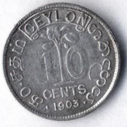 Moneta > 10centesimi, 1902-1910 - Ceylon  - reverse