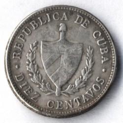 Coin > 10centavos, 1915-1949 - Cuba  - obverse