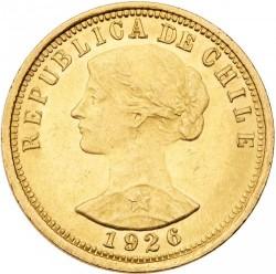 Coin > 100pesos, 1926 - Chile  - obverse