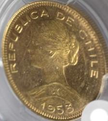 Münze > 100Pesos, 1932-1959 - Chile  - obverse
