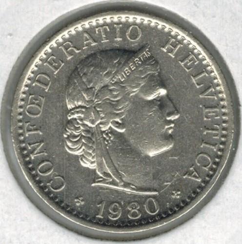 20 Rappen 1980 Schweiz Münzen Wert Ucoinnet