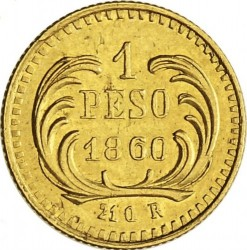 Moneda > 1peso, 1859-1860 - Guatemala  - reverse